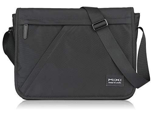 Hanke Messenger Bag 10L 14 Zoll Umhängetasche Waschbare Schultertasche Wasserabweisende Herrentasche Herren Damen Schwarz