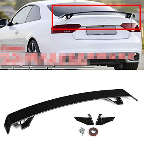 Carbon Look/Gloss Black Car Rear Trunk Boat Lip Spoiler Wing Big for Audi A3 S3 A4 S4 A5 S5 RS5 A6 S6 A7 A8 R8 TT TTRS,Gloss Black