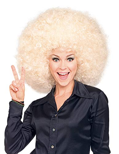 Rubie's womens Super Size Blond Afro Wig Party Supplies, As shown, One Size US
