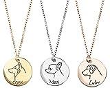 Dog Portrait Personalized Charm Necklace