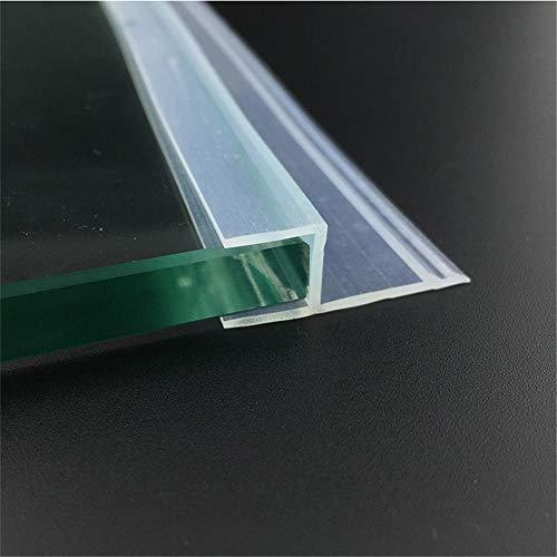 6 8 10 12Mm Glasdichtungen Rahmenlose Duschtür Fenster Balkon Sichtschutzleiste Dichtungsstreifen Zugluftstopper 5M-Transparent_8Mm