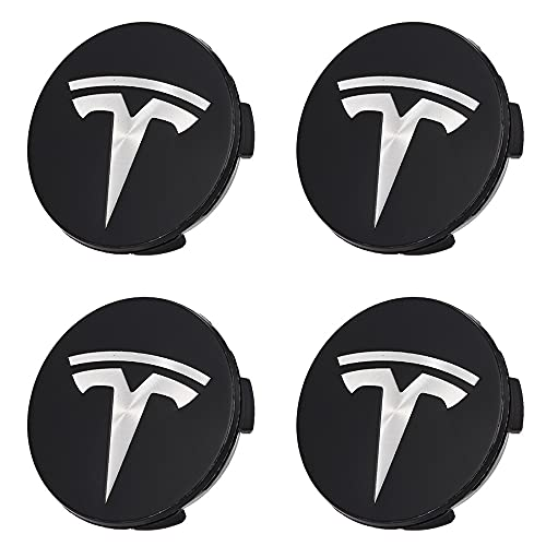SXZG Tapas de Cubo de Cubierta Central de Rueda para Tesla Modelo 3 X S, Accesorios de Estilo de Coche, etiquetado de Cubierta ABS de 56 MM 4 Piezas