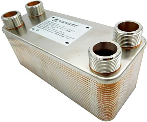 """Edelstahl Wärmetauscher Plattenwärmetauscher NORDIC TEC Ba-32-40, 230kW, 40 platten, 1"""""""