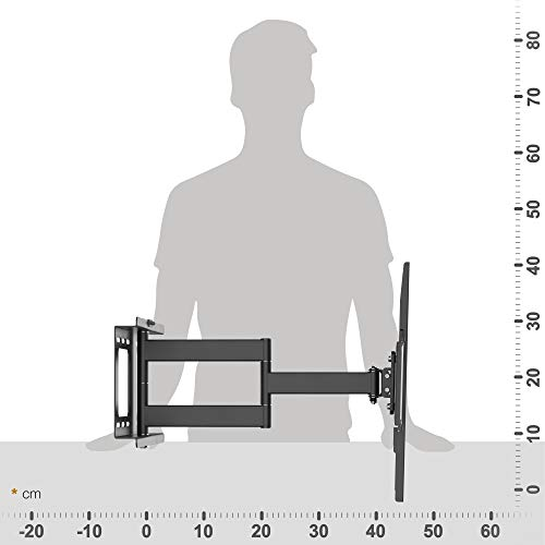 RICOO Fernsehhalterung Schwenkbar Neigbar S2544 Fernseher Wandhalterung TV Halterung Curved Fernseh Wandhalter Flatscreen LED LCD 4K Schwenkarm Moebel VESA | 200 | 400 | Flachbildschirm: 30 32 34 40 42 43 45 55 Zoll - 5