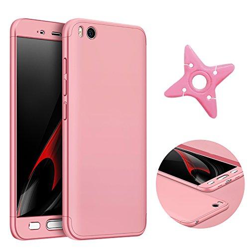 MAOOY Funda para Xiaomi Mi 5s, Resistente a Los Arañazos Concha para Xiaomi Mi 5s, Rigid Parachoques Ultra Slim Fine Envoltura Corporal Completa Protector para Xiaomi Mi 5s, Oro Rosa