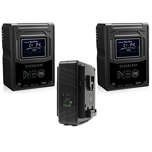 Core SWX 2X Hypercore NEO-150S 147Wh 14.8V V-Mount Mini Li-Ion Battery Pack, Bundle with GPM-X2S Super Compact V-Mount Fast Charger