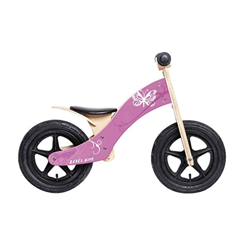 Rebel Kidz Wood Air Draisienne 12' Papillon Enfant, Pink