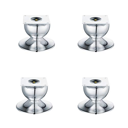 4X Edelstahl Möbel Fußpolster Hochbett Fußbett Beinstütze Metall erhöhen Couchtisch Bein Schrank Fuß Sofa Fuß Fuß
