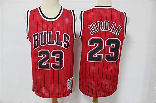 HS-XP Chicago Retro De Los Hombres Bulls # 23 Michael Jordan NBA Basketball Jersey, Gym Sports Sin Mangas Camiseta De Camiseta para Transpirabajo,Rojo,XL(180~185cm)