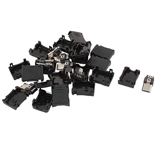 Micro USB Stecker - SODIAL(R) 10 Stueck 5-Pin Micro USB Typ B Stecker Kunststoff Abdeckung