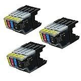 Bramacartuchos - 12 X Cartuchos compatibles Brother Lc1280XL Lc1280 XL Lc1280 Xl Lc 1280 NON OEM, Brother MFC-J6510DW, MFC-J6710DW, MFC-J6910DW, MFC-J5910DW, MFC-J6710