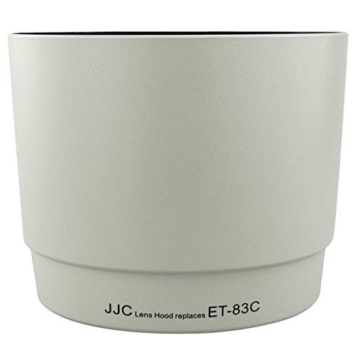 JJC レンズフード 白 Canon ET-83C 互換 EF 100-400mm F4.5-5.6L IS USM レンズ 用 可逆式