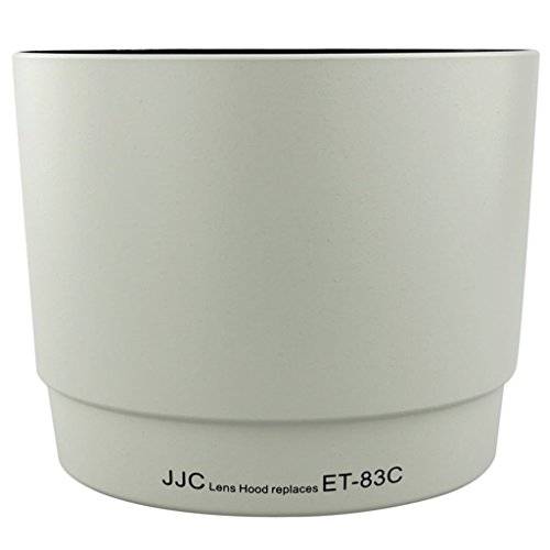JJC LH-83C(W) Lens Hood Shade For White CANON EF 100-400mm F/4.5-5.6L IS USM Replaces ET-83C