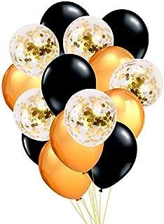 15pcs Balloon Set- Gold Confetti Balloon - Birthday Balloon - Baby Shower -Decoration Kids Party Supplies - graduation