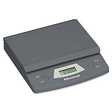 Brecknell  Electronic Office Scale, 25 lb., 5-1/4 X 8-1/8 Inches, Grat (SBW325)