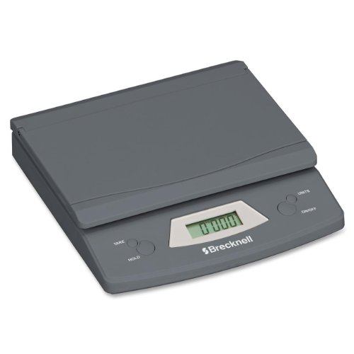 Brecknell Electronic Office Scale, 25 lb, 5-1/4 X 8-1/8 Inches, Grat (SBW325)