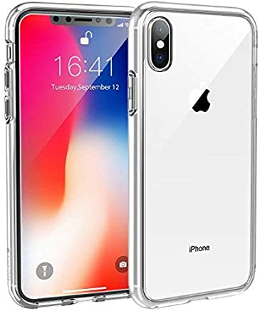 Syncwire Coque iPhone X - UltraRock Series Housse Rigide de Protection avec Protection Anti-Chute et Technologie Avancée de Coussin d'air pour iPhone X/10 (2017) - Ultra Transparent