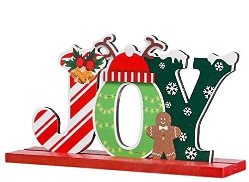 KOUQI Legno Decorazione di Natale Elk Atmosfera Tavolo Decorazione Top Snowman Decorazione Le Corna di Joy