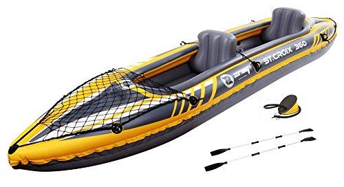Kayak hinchable de 2 plazas - z-ray st, kayak croix diseñado para uso tanto deportivo como aficionado, es ideal para explorar ríos, lagos y costas marinas Pvc resistente: 0, 55 mm - 3 cámaras de aire/ 2 aletas garantizan la estabilidad de la direcció...