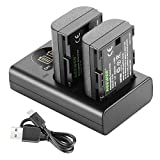 Neewer LP-E6 LP-E6N Battery Charger Rechargeable Batteries Set Compatible with Canon 5D Mark
