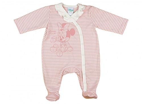 Disney Baby Minnie Mouse - Pelele de manga larga con pie para niña (tallas 56, 62, 68, 74, algodón, también como pijama para bebé) Modelo 9 68 cm