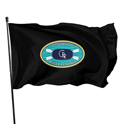 NA Colorado Rafting Kayak Logo Outdoor Flag 4x6 Feet Decorative Flag for Backyard, Home, Party