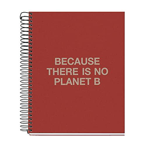 ECOALF powered by MIQUELRIUS - Cuaderno reciclado A5 cuadrícula 120 hojas - Rojo