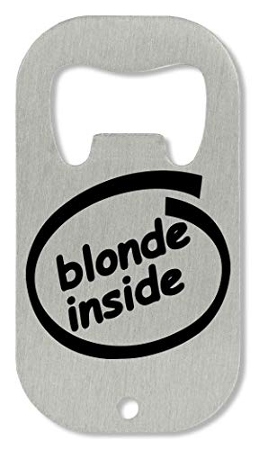 xx Blonde Inside Out logo flesopener