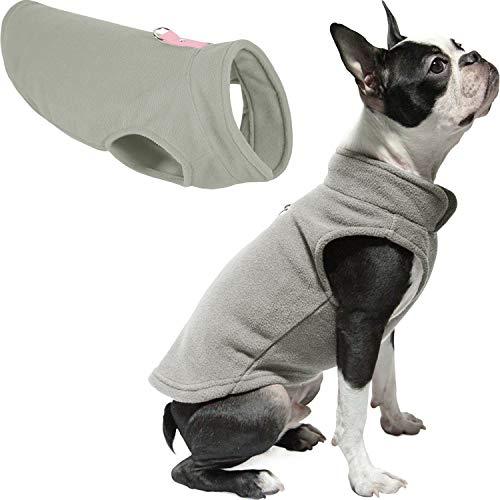 Gooby Fleece Vest Dog Sweater - Gray, Small - Warm...