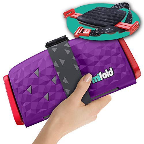 New mifold Comfort Grab-and-go Car Booster Seat- 3X Thicker Cushion! Compact and Portable for Every Day, Carpooling, Travel, etc. Compact for Every Day, Comfortable for Every Adventure, Royal Purple