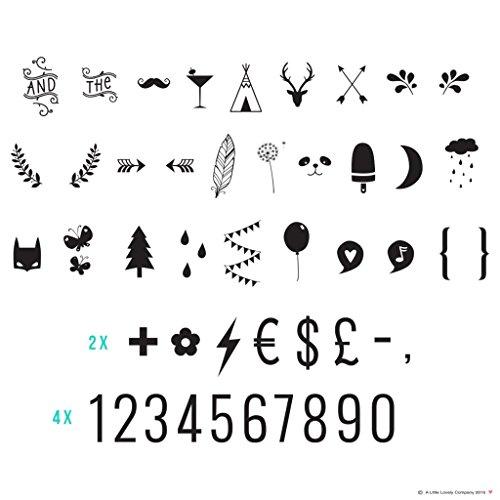 A Little Lovely Company Set Chiffres et Symboles Lightbox