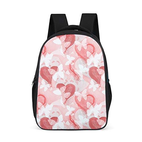 Butterflies And Heart Little Kid's Backpacks Classic Causal Sports grey onesize