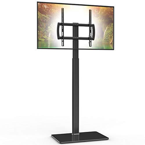 Supporto universale per TV con supporto girevole a 80 gradi in altezza regolabile e funzione di inclinazione per LCD da 27 a 55 pollici, TV LED OLED, HT1002B