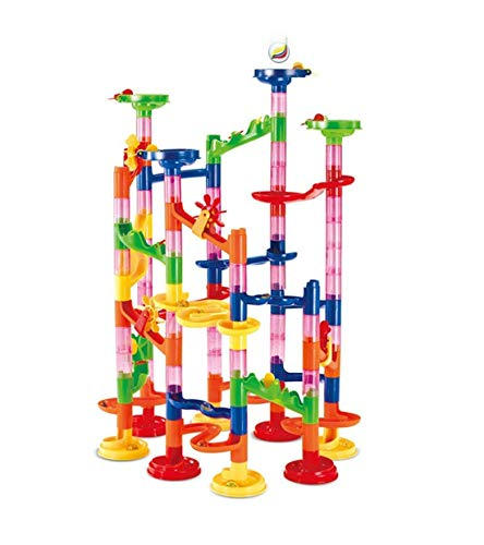 Allaind 105 Pcs Marble Runs Toys Gifts Educational Learning Building Blocks Game Set for 3-12 Year Old Boys Girls