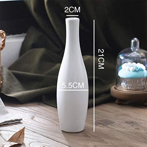 AOA Keramikvasen Kugelvase Blumentopf Blumentopf Büro Porzellan Vase Home Decor Weiß 21 cm