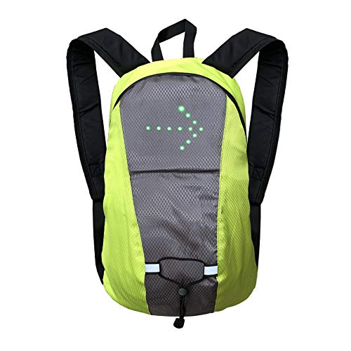 Lixada Turn Signal Backpack Wireless LED Signal Light Cycling Backpack USB Rechargeable Bike Backpack Direction Indicator Backpack for Cycling Safety