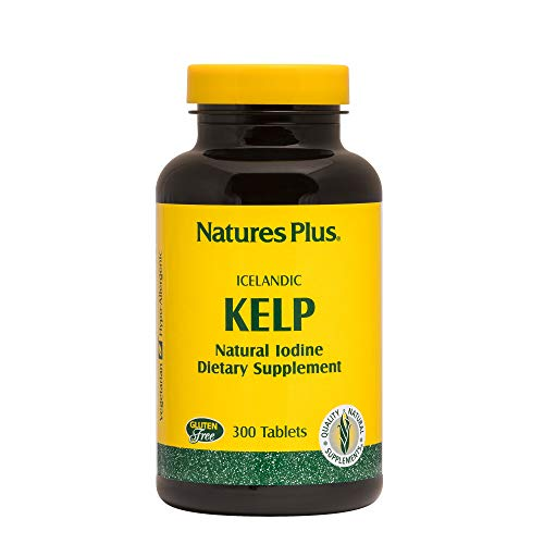 NaturesPlus IcelAndic Kelp - 150 mcg Iodine; 150 mg Kelp- 300 Vegetarian Tablets - Natural Iodine Supplement - Gluten-Free - 300 Servings