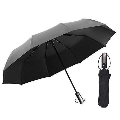 Local Makes A Comeback Automatische paraplu met sterke windweerstand, vinyl met zonnefilter, automatische aan/uit-knop.