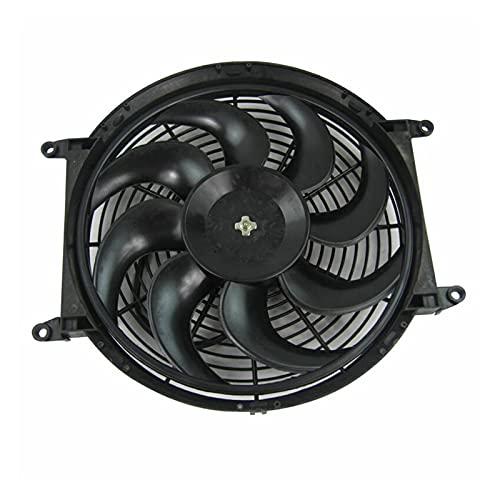 Yayan YAYANGG Nuevo 14'Ventilador de Coche 80W Push Pull Pull Electric Slim Radiador Fan 12V Fan de refrigeración y Accesorios