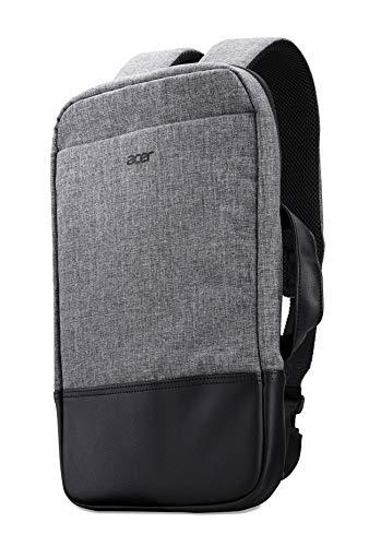 Acer Travel Backpack / Rucksack (geeignet für bis zu 14 Zoll, separate Taschen, seitlicher Tragegurt, wasserabweisend, perfekt für unterwegs) grau/schwarz
