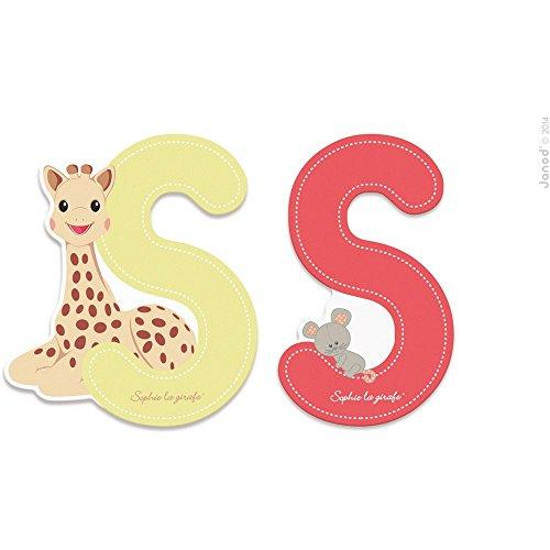Janod Letra Serie Sophie La Girafe - Bois - S - J09563, multicolore - 1 - Version Espagnole