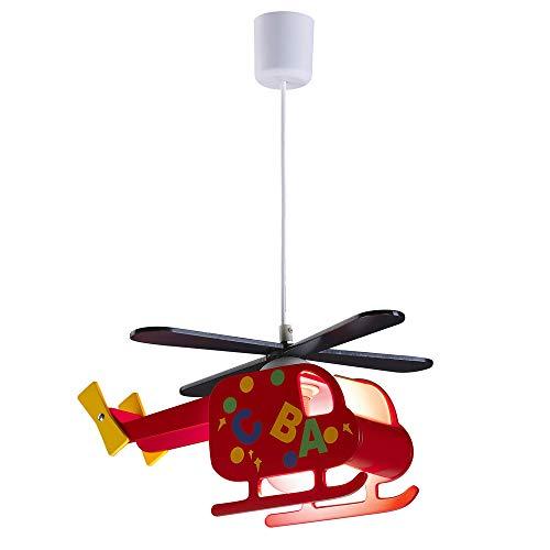Wonderlamp W-A000122 Lámpara de techo infantil Helicóptero rojo