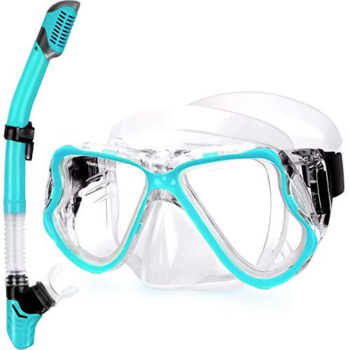 Karvipark Dry Snorkel Set,Anti-Fog Scuba Diving Mask,Panoramic Wide View...