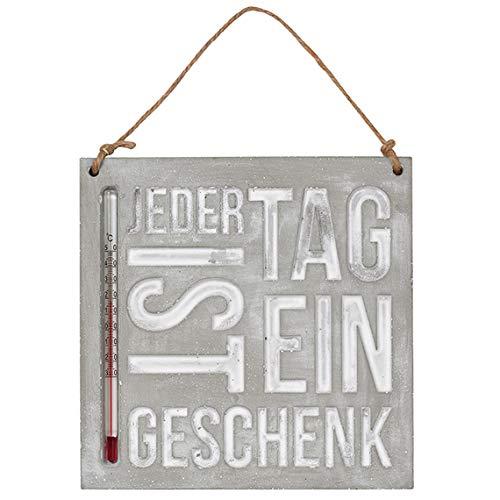 Räder 13501 FREILUFT - Thermometer - Jeder Tag ist Ein Geschenk - 16x16x1cm