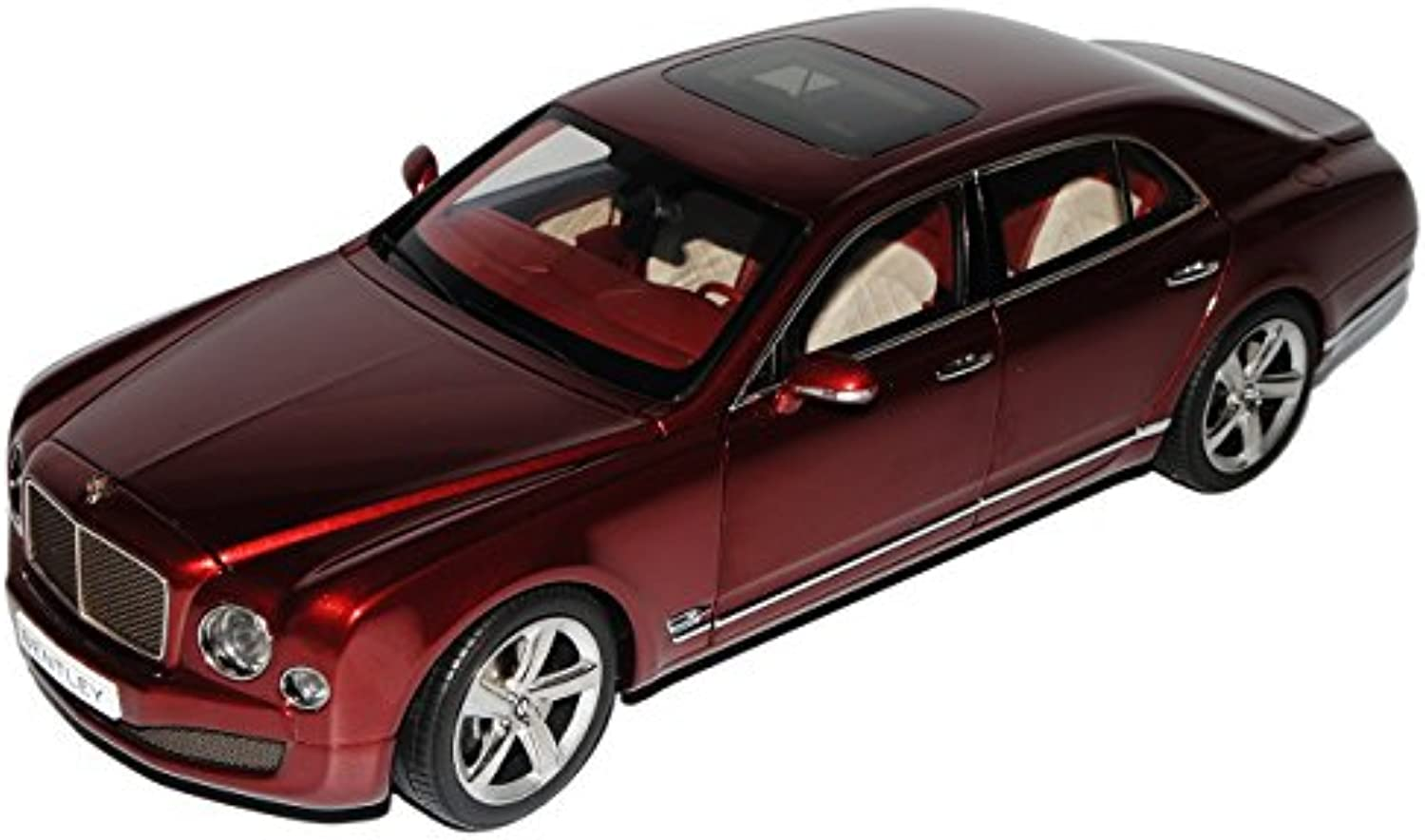 Kyosho Bentley Mulsanne Speed Dunkel Rot Ab 2009 Ab Facelift 2014 8910NX 1 18 Modell Auto