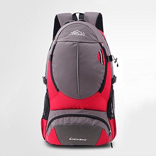 Outdoor Coco Mochila de Senderismo Impermeable, Mochila Casual de Nylon al Aire Libre Deporte Viaje Trekking Running Womens Mens (Color : Rojo)