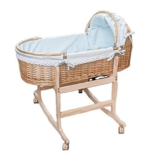 Witou Portátil Baby Cradle Sleep Basket Recién Nacido Coche portátil Cuna Cómodo Cuna Color Color Color Baby Products, Silla de balanceo (Color : Blue)
