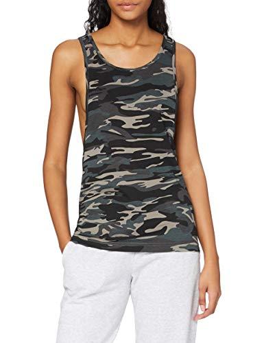 Urban Classics Ladies Loose Tank Camiseta sin Mangas, Multicolor (Urban Camo 378), M para Mujer