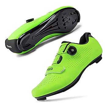 Mens or Womens Road Bike Cycling Shoes Peloton Bike Shoes Compatible SPD Riding Shoe Indoor/Outdoor Size Men s 8/Women s 10.5 Green