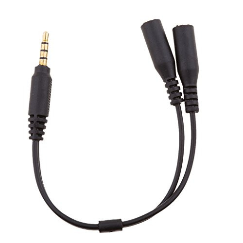 magperfekt 3,5mm Mikrofon Combo Audio Adapter Kabel für PS4, Xbox One, Tablet, Handy, PC Gaming Headsets Laptop